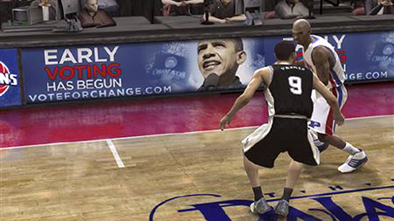 Obama buys advertising in Electronic Arts games.