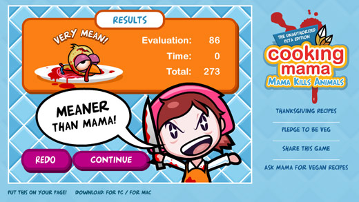 Cooking Mama: Mama Kills Animals Unauthorized PETA Edition