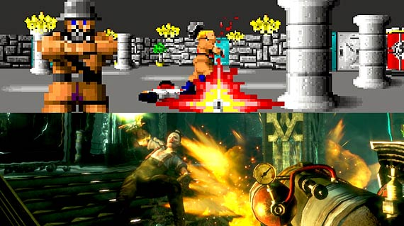 Comparison of Wolfenstein and BioShock