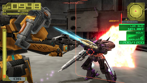 Armored Core 3 Portable Screenshot