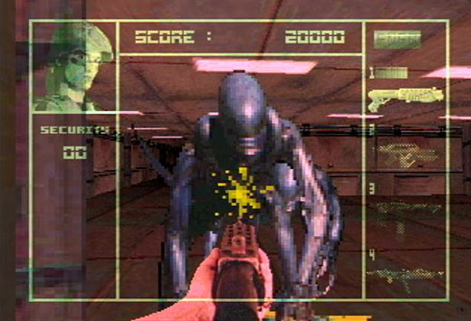 Linking the past, present, and future: The Atari Jaguar as console artifact - Aliens vs. Predator Screenshot