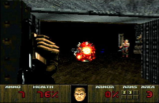 Linking the past, present, and future: The Atari Jaguar as console artifact - Doom Screenshot