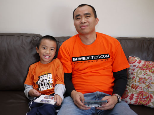 GameCritics Founder and Owner Chi Kong Lui with his son Ryan