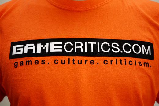 GameCritics Logo - Front of T-Shirt