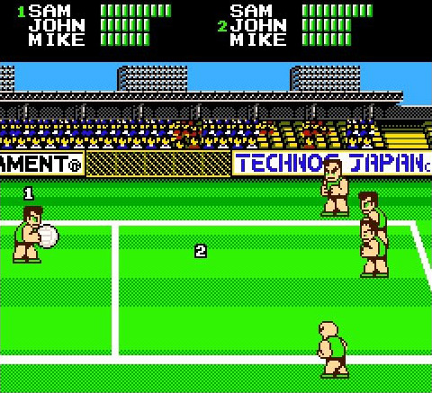 Super Dodge Ball (NES) Screenshot