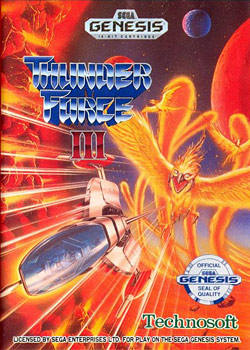 Thunder Force III (Sega Genesis) Box Art