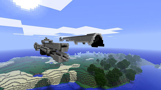Minecraft user recreates a Halo: Reach UNSC Frigate