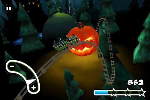 Haunted 3D Rollercoaster Rush Screenshot