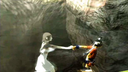The player develops a relationship with Yorda at the same time that Ico does because the relationship is played.