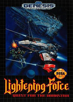 Lightening Force: Quest for the Darkstar or Thunder Force IV (Sega Genesis) Box Art  Screenshot