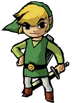 Cel shaded child-like Link