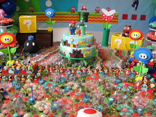 Four-year old gets Mario-themed birthday party