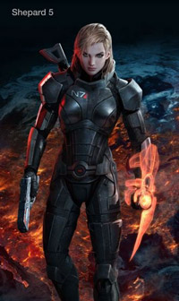 Mass Effect 3 Female Shepard Facebook