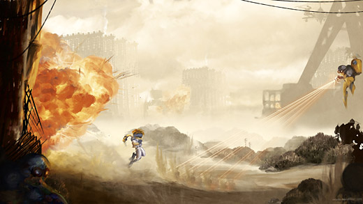 Gunstar Heroes - War Zone Orioto Fan Art
