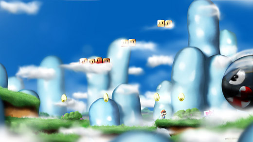 Super Marioworld - Milky Sky Orioto Fan Art