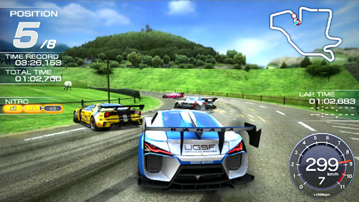 Ridge Racer Vita Screenshot