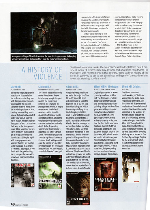 Silent Hill Shattered Memories Scans