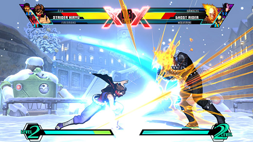 Ultimate Marvel vs. Capcom Screenshot