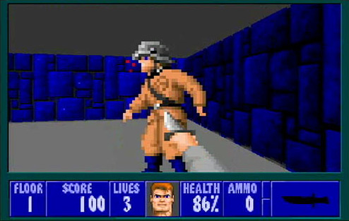 Wolfenstein 3D Screenshot - And BOOM. Point made.