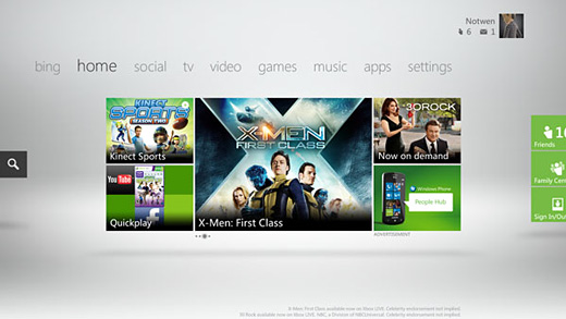 Xbox Live Dashboard Update Image