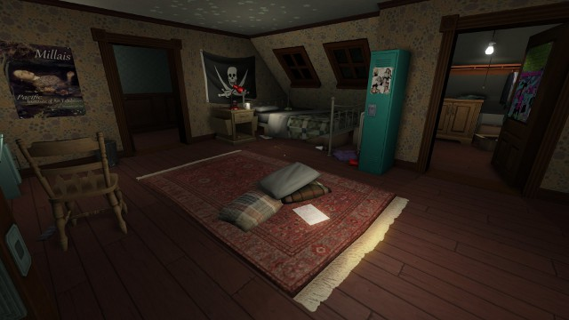 A screenshot from Gone Home