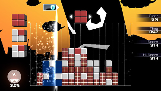 Lumines: Electronic Symphony Screenshot