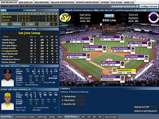 Out of the Park Baseball 13 Screenshot